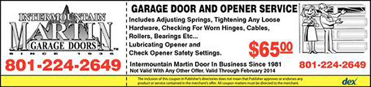 Garage Door and Opener Service Discount