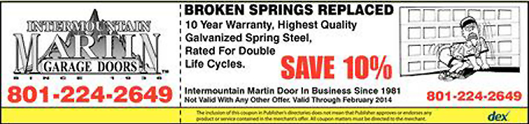 Save 10% OFF your Broken Spring