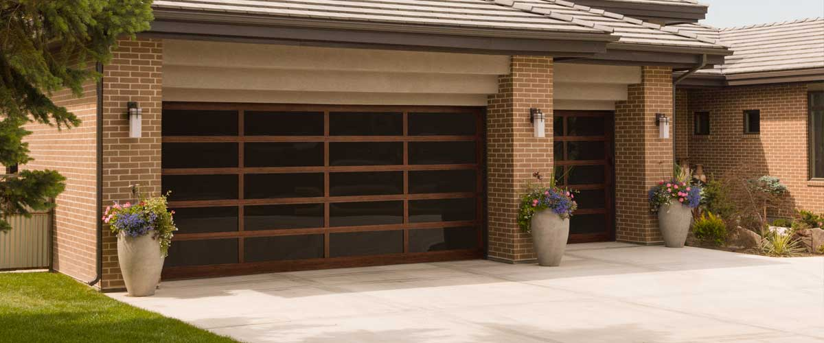 An All Glass Garage Door